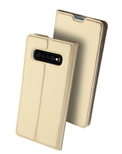 Samsung Galaxy S10  Gold Pu leather  Magnetic Cover