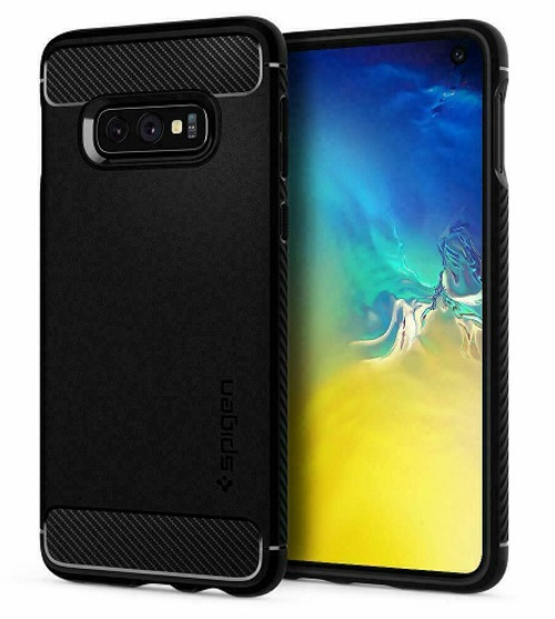 Samsung Galaxy S10  Spigen Rugged Armor  Matte Black  Case