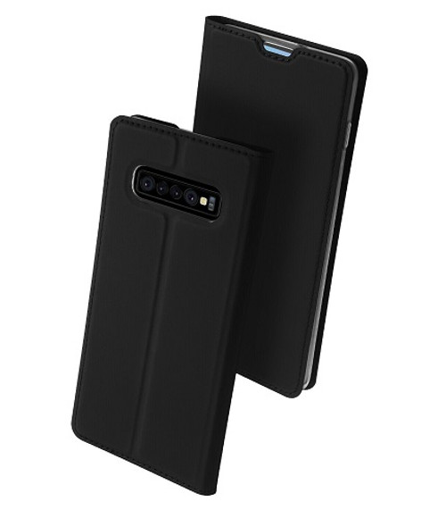 Samsung Galaxy S10 Plus Balck Pu leather  Magnetic Cover