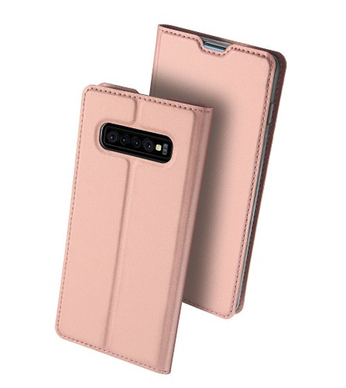 Samsung Galaxy S10 Plus Rose Gold Pu leather  Magnetic Cover