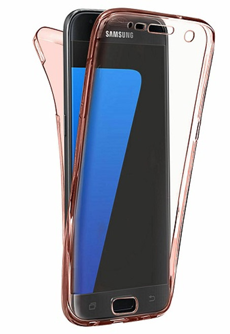 Samsung Galaxy S10 Rose Gold Slim Thin TPU 360 Cover Protective Phone Case