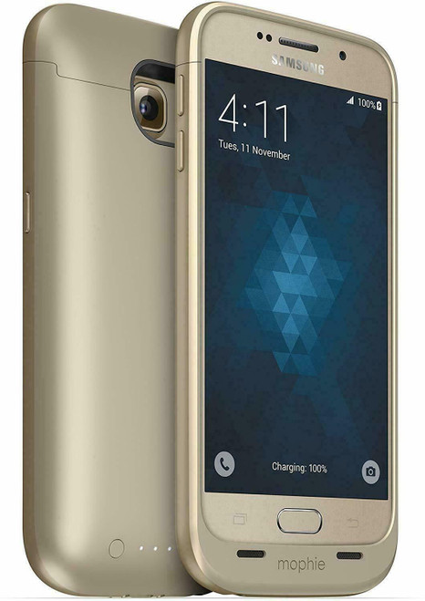 Mophie Juice Pack Battery Case Cover For Samsung Galaxy S6 Gold(without retail box)