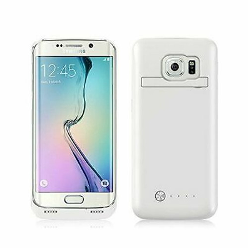 Samsung Galaxy S6 4200mAh External  Power Bank Battery Case-White