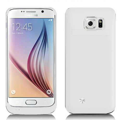 Samsung Galaxy S6 Edge 4200mAh External  Power Bank Battery Case - White