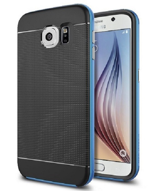 Samsung Galaxy S6 Edge Blue  360 Shockproof Protective Hard Case