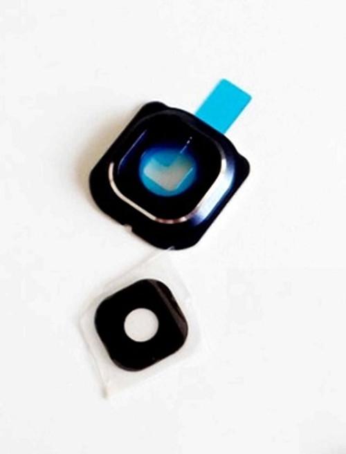Samsung Galaxy S6 Edge Glass Camera Lens Cover Frame Part - Blue