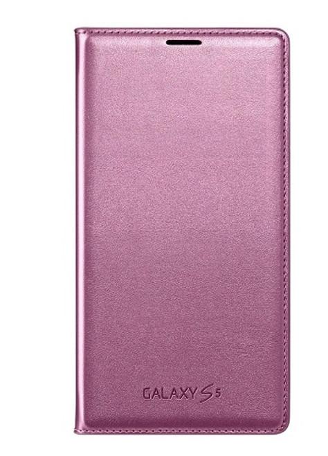 Samsung Galaxy S5 Pink Flip Wallet Case
