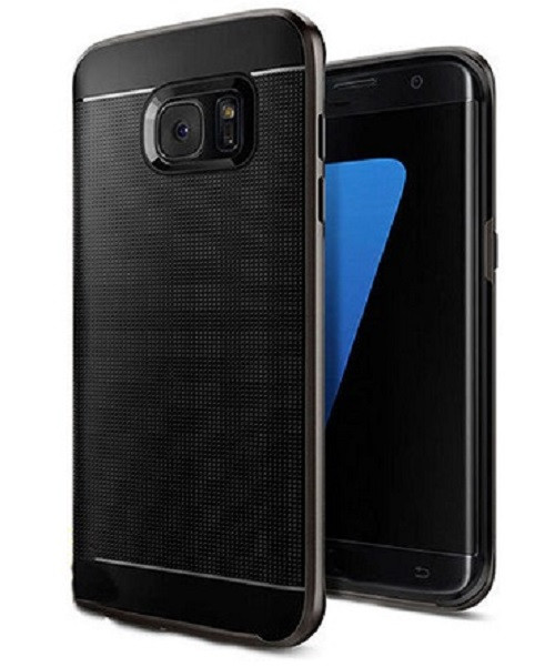 Samsung Galaxy S6 Edge Black 360 Shockproof Protective Hard Case