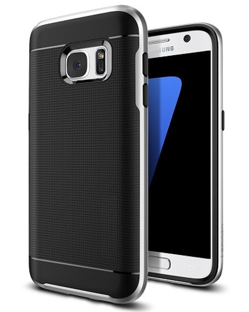 Samsung Galaxy S6 Edge Silver  360 Shockproof Protective Hard Case
