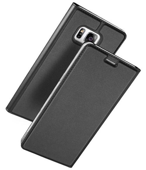 Samsung Galaxy S7  Luxury Ultra Thin Leather Flip Card Holder Case- Black