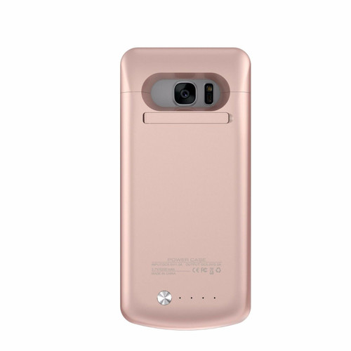 Rose gold battery charger case cover power Bank Backup 5200mAh Samsung Galaxy S7 Edge