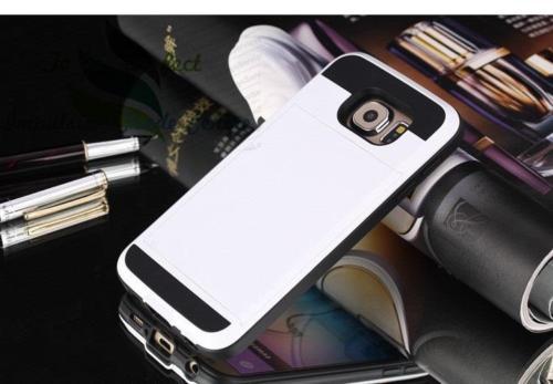 Samsung Galaxy S7 Edge Card Pocket Slim Hybrid Case White