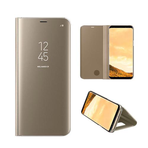 Samsung Galaxy S7 Edge Mirror Stand Case Cover Gold