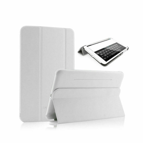 "Samsung Galaxy Tab 4 8"" T335 T330 White Folding Stand Smart Cover"
