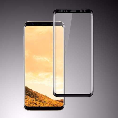 Samsung Galaxy S8 Plus  Full Curved Tempered Glass Black