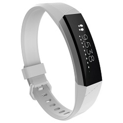 Small FitBit Alta Replacement Strap with Metal Clasp-White