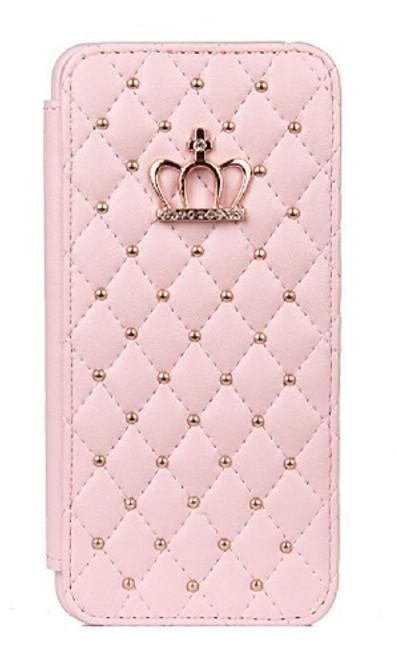 Samsung Galaxy S8 Plus Bling Pu Leather Baby Pink Diamond Case