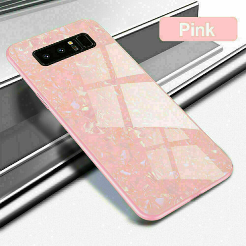Samsung Galaxy S8 Plus pink Magnetic Absorption Marble Glass Case