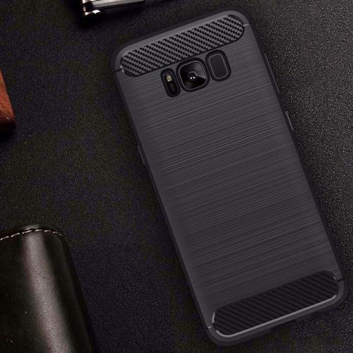 Samsung galaxy S8 Plus Flexible Silicone interior rugged Case Black