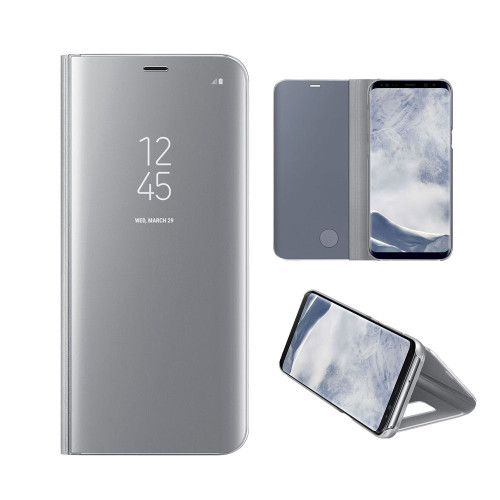 Samsung Galaxy S8 Plus Flip Mirror Stand Case Silver