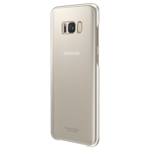 Samsung Galaxy S8 Plus Gold Clear Case