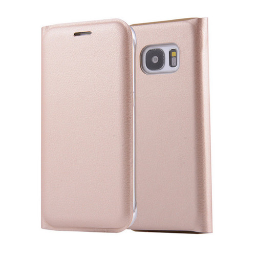 Samsung Galaxy S8 Plus Leather Wallet Card Holder Cover - Gold