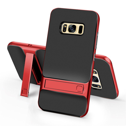 Samsung Galaxy S8 Plus TPU Shockproof Stand Back Case Red