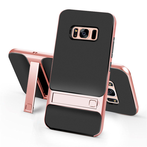 Samsung Galaxy S8 Plus TPU Shockproof Stand Back Case Rose Gold