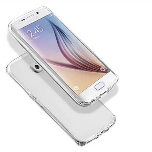 Samsung Galaxy S8 Plus Ultra Thin Clear TPU Gel Case Front Back Cover
