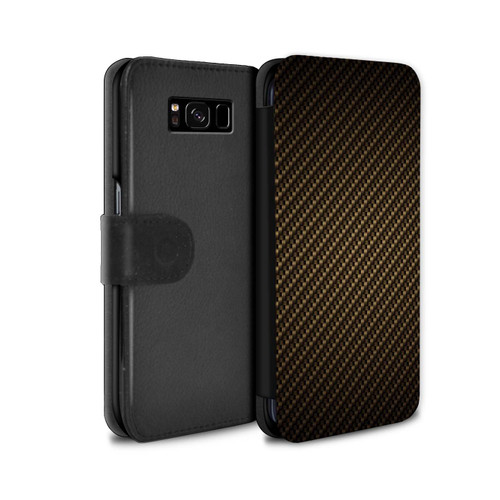 Samsung Galaxy S8 Plus/G955/Carbon Fibre Effect/Pattern Gold