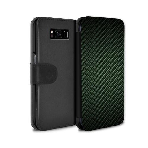 Samsung Galaxy S8 Plus/G955/Carbon Fibre Effect/Pattern Green