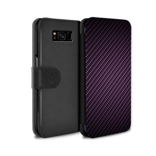 Samsung Galaxy S8 Plus/G955/Carbon Fibre Effect/Pattern Purple
