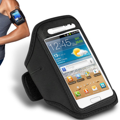 Samsung Galaxy S8 Sports Running Gym Armband Strap Case Cover Black