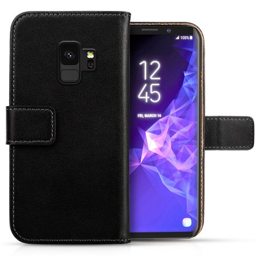 Samsung Galaxy S9  Genuine Real Leather Wallet Case