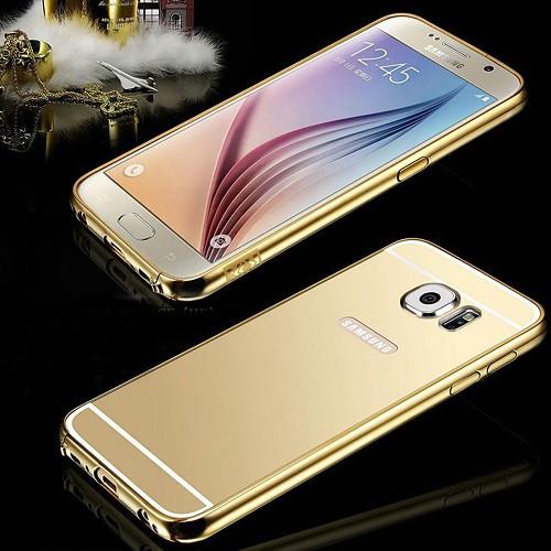 Samsung Galaxy S9 Aluminum Gold Metal Bumper Mirror Hard Back Case