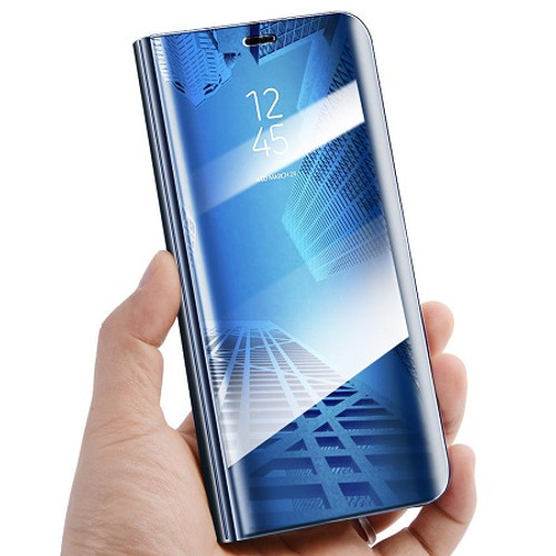 Samsung Galaxy S9 Plus  Mirror View Stand Cover Blue