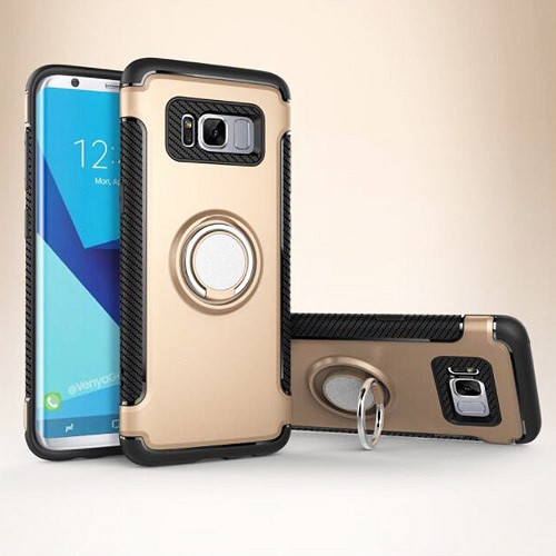 Samsung Galaxy S9 plus Silver  Luxury Shockproof Ring Holder Stand Hard Case