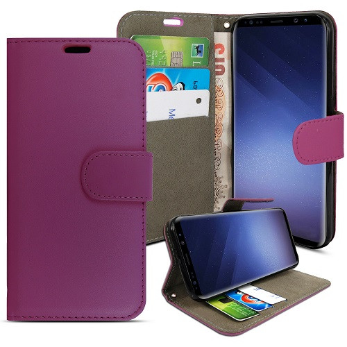 Samsung Galaxy S9 Purple pu leather wallet case