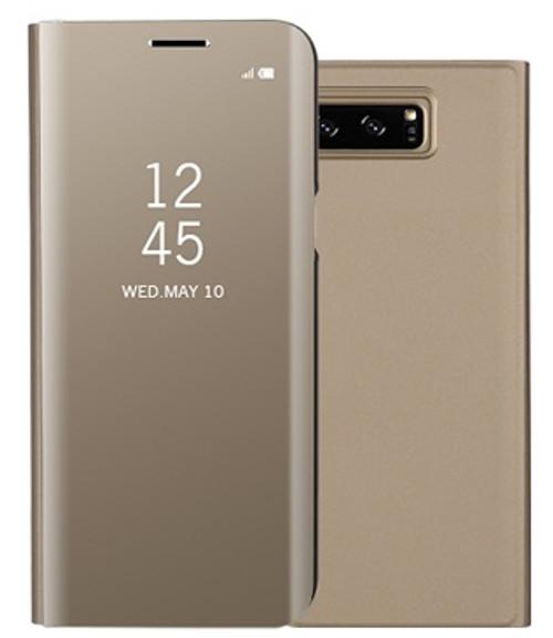 Samsung Galaxy S9 Smart Mirror Window View Flip Stand Case Champagne Gold