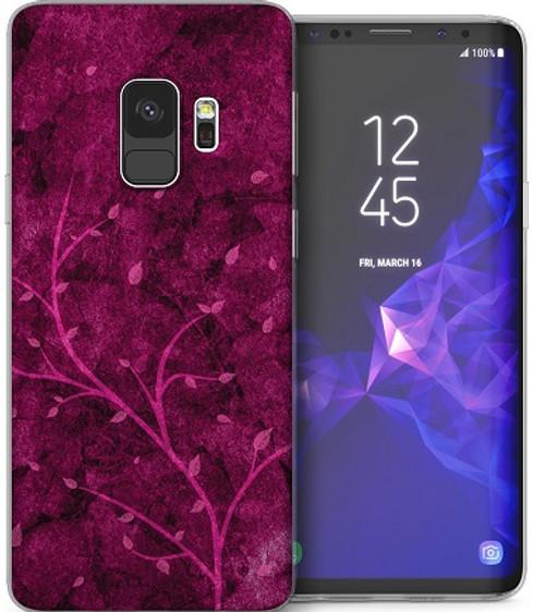 Samsung Galaxy S9 Stylish Pink Tree Autumn Leaf Nature Case