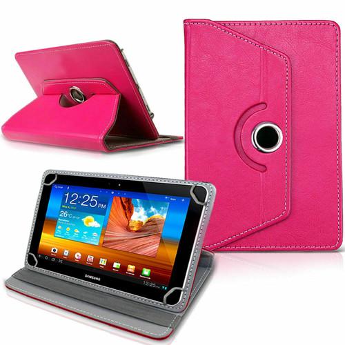 Samsung Galaxy Tab 3 7.0 LITE (T110/T111) Pink Folding Folio 360 Rotating Stand  Case