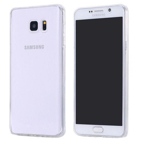 Samsung S6 Edge Plus Shockproof 360 Silicone Soft Case Cover - Clear