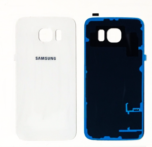 s6 white glass battery cover
