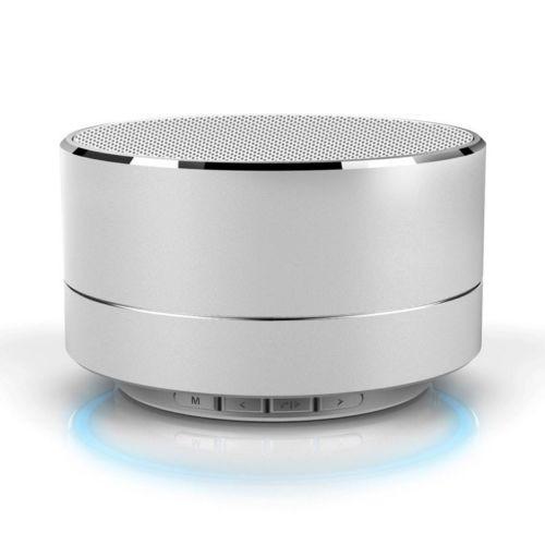 Silver Aluminium Wireless Bluetooth Speaker