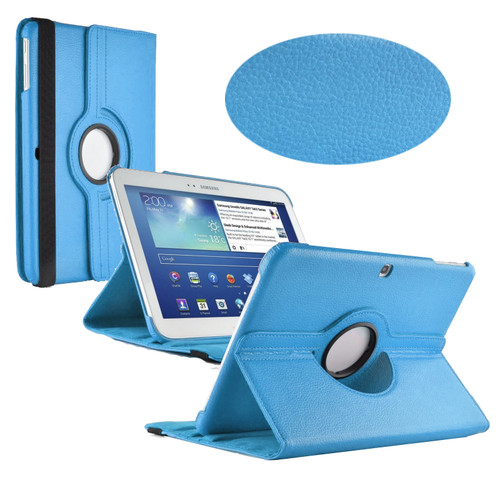 Sky Blue PU Leather 360 Rotating Case for Samsung Galaxy Tab 3 10.1 (P5200/P5210)