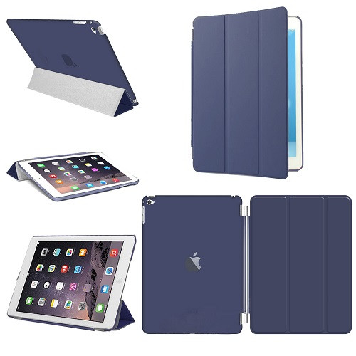 Smart Stand Leather Navy Blue Magnetic Case Cover For Apple iPad Pro 9.7'' (Released 2016)