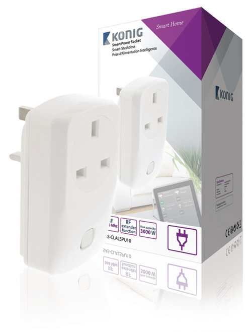 Smart Wall Plug On/Off - UK / Type G - 2 units