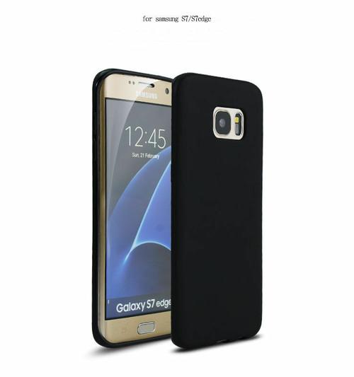 Ultra thin Soft TPU Luxury Phone Case for Samsung Galaxy S6 Edge Plus - Black
