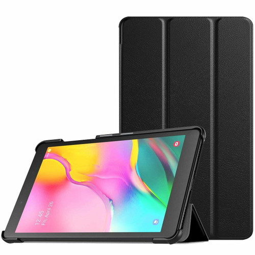Black leather cover magnetic smart tablet case Amazon Kindle Fire HD 8 2018  8th Generation