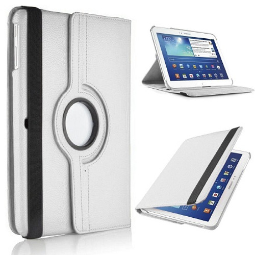 White  PU Leather 360 Rotating Case for Samsung Galaxy Tab S 8.4 (T700/T701/T705)